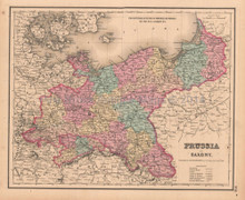 Prussia Saxony Antique Map Colton GW 1857