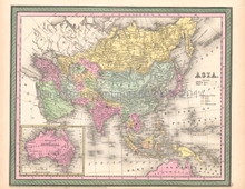 Asia Antique Map DeSilver 1854