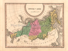 Russia in Asia Antique Map Anthony Finley 1824