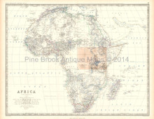 Africa Antique Map Johnston 1861