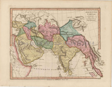 Ancient Orient Antique Map Finley 1818