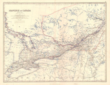 Western Canada Antique Map Johnston 1864