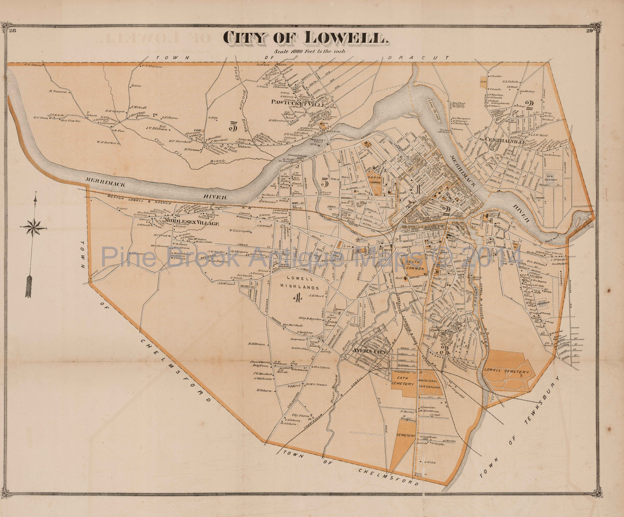 Lowell City Machusetts Antique Map Beers 1875 on boston ma map, lowell neighborhood map, uml south campus map, marlborough ma map, middlesex massachusetts map, westford ma map, woburn ma map, medford boston map, leominster ma map, lowell fire map, lowell massachusetts city map, newburyport ma map, springfield ma map, watertown ma map, revere ma map, peabody ma map, worcester ma map, lowell street map, methuen ma map, somerville ma map,
