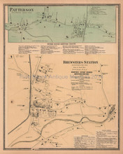 Patterson Brewsters Station New York Antique Map Beers 1867