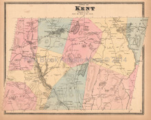 Town of Kent New York Antique Map Beers 1867