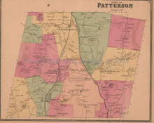 Town of Patterson New York Antique Map Beers 1868