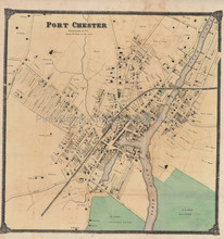 Port Chester New York Antique Map Beers 1867