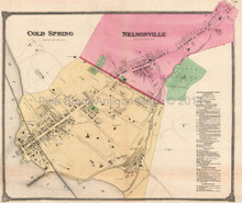 Cold Spring Nelsonville New York Antique Map Beers 1867