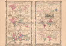 Animal Kingdom Vintage Map Johnson 1864