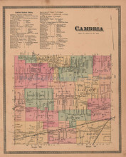 Cambria New York Antique Map Beers 1875