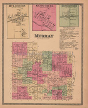Town of Murray New York Antique Map Beers 1875