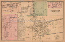 Middleport Gasport New York Antique Map Beers 1875