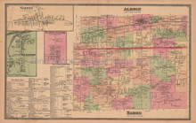 Town of Albion Barre New York Antique Map Beers 1875