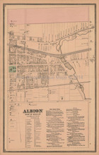 East Albion New York Antique Map Beers 1875