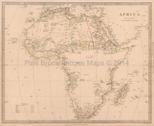 Africa Antique Map SDUK 1839