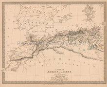Ancient Africa Antique Map SDUK 1840 Part I