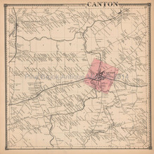 Canton New York Antique Map Beers 1865