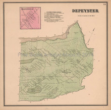Depeyster New York Antique Map Beers 1865