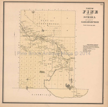 Fine Scriba New York Antique Map Beers 1865