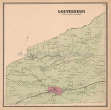 Gouverneur New York Antique Map Beers 1865