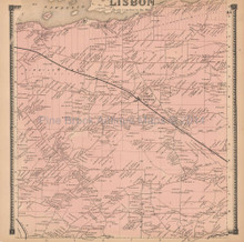 Lisbon New York Antique Map Beers 1865