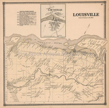 Louisville New York Antique Map Beers 1865