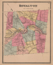 Royalton Vermont Vintage Map Beers 1869