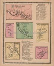 Bridgewater South Woodstock Vermont Vintage Map Beers 1869