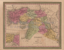 Turkey Asia Vintage Map Mitchell Cowperthwait 1853