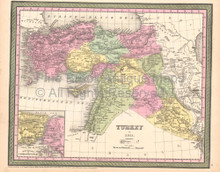 Turkey Iraq Vintage Map DeSilver 1855
