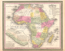 African Continent Vintage Map DeSilver 1855