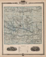 Keokuk County Iowa Map Antique Andreas 1875