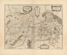 Saint-Quentin Tergnier Marle France Antique Map Blaeu 1650