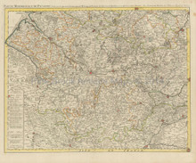 Amiens Abbeville Arras France Antique Map Covens & Mortier 1745