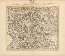 French Alps France Antique Map Covens & Mortier 1745