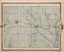 Union Adams County Iowa Map Antique Andreas 1875