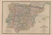 Spain Portugal Vintage Map Wyld 1863