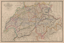 Switzerland Vintage Map Wyld 1863