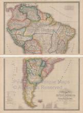 South America Vintage Map Wyld 1863