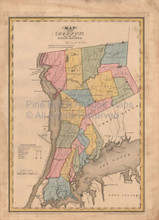 Westchester County New York Antique Map Burr 1829