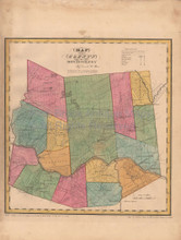 Montgomery County New York Antique Map Burr 1829