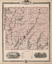 Taylor Ringgold County Iowa Map Antique Andreas 1875