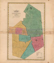 Lewis County New York Antique Map Burr 1829