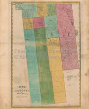 Franklin County New York Antique Map Burr 1829