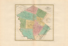 Sullivan County New York Antique Map Burr 1829