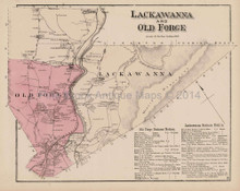 Lackawanna Old Forge Pennsylvania Antique Map Beers 1873