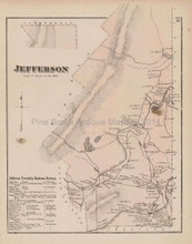 Jefferson Pennsylvania Antique Map Beers 1873