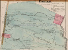 Foster Pennsylvania Antique Map Beers 1873