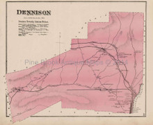 Dennison Pennsylvania Antique Map Beers 1873