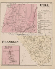 Fell Franklin Orange Pennsylvania Antique Map Beers 1873